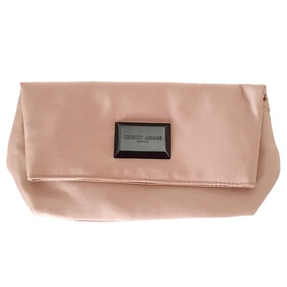 Giorgio Armani Bags   Parfums Satin Blush Foldover Clutch   Poshmark b0640aecba